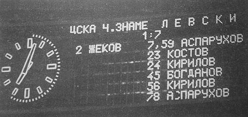 Така изглежда информационното табло при резултат 1:7 за Левски София