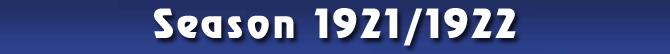 Season 1921/1922
