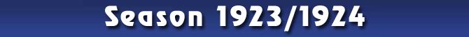 Season 1923/1924