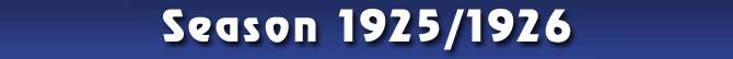 Season 1925/1926