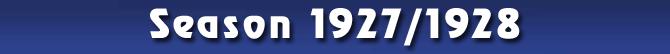 Season 1927/1928