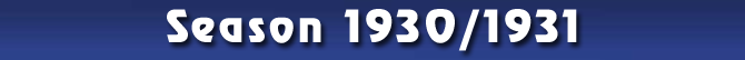 Season 1930/1931