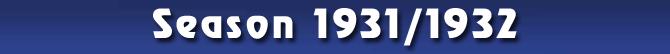 Season 1931/1932