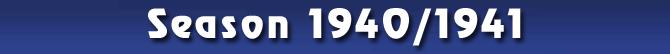 Season 1940/1941