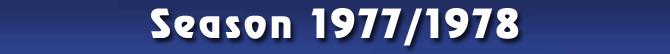 Season 1977/1978