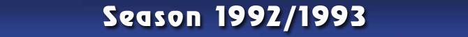 Season 1992/1993